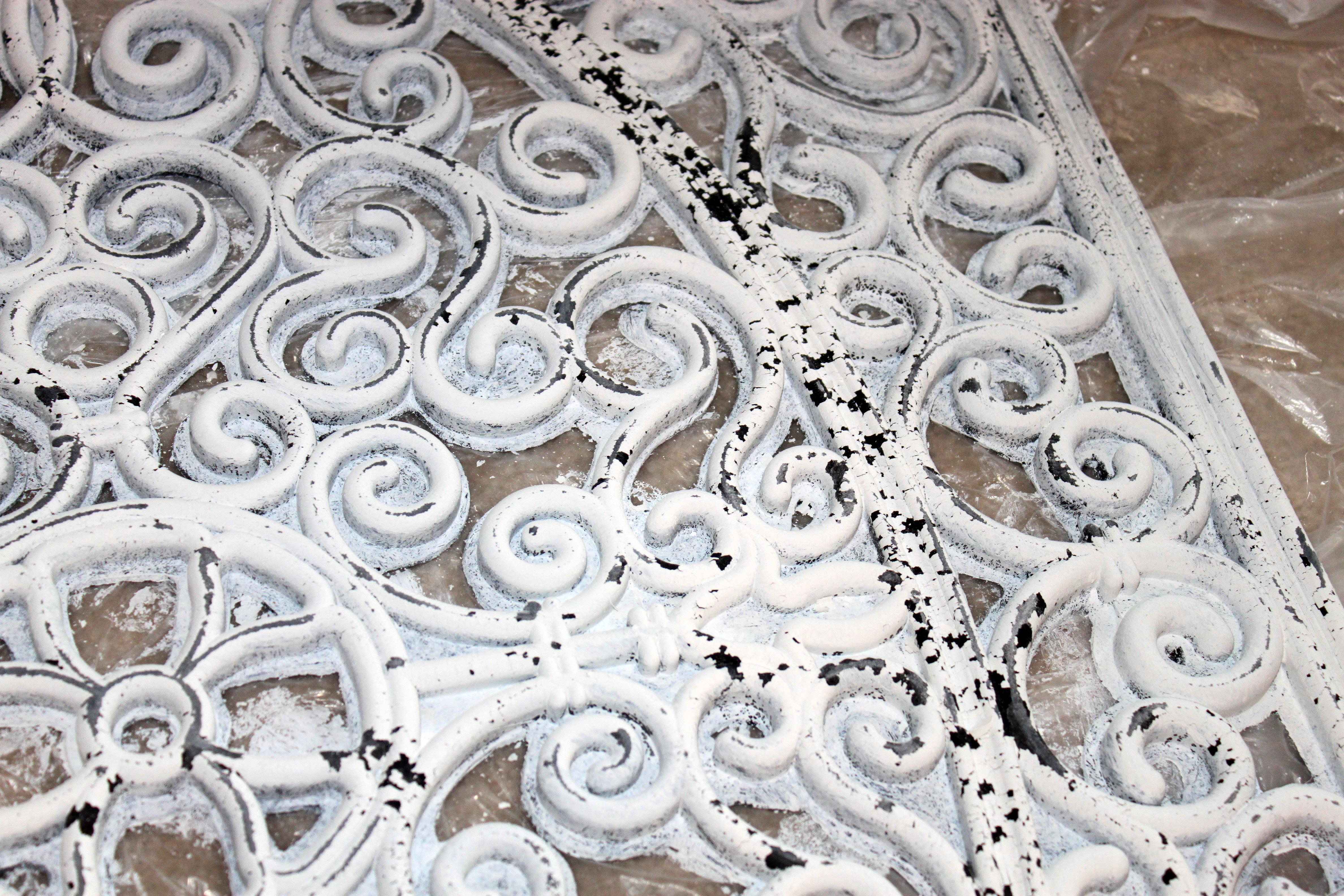 White Wrought Iron Wall Decor Faux Wrought Iron Wall Decor  Just Like Playing House