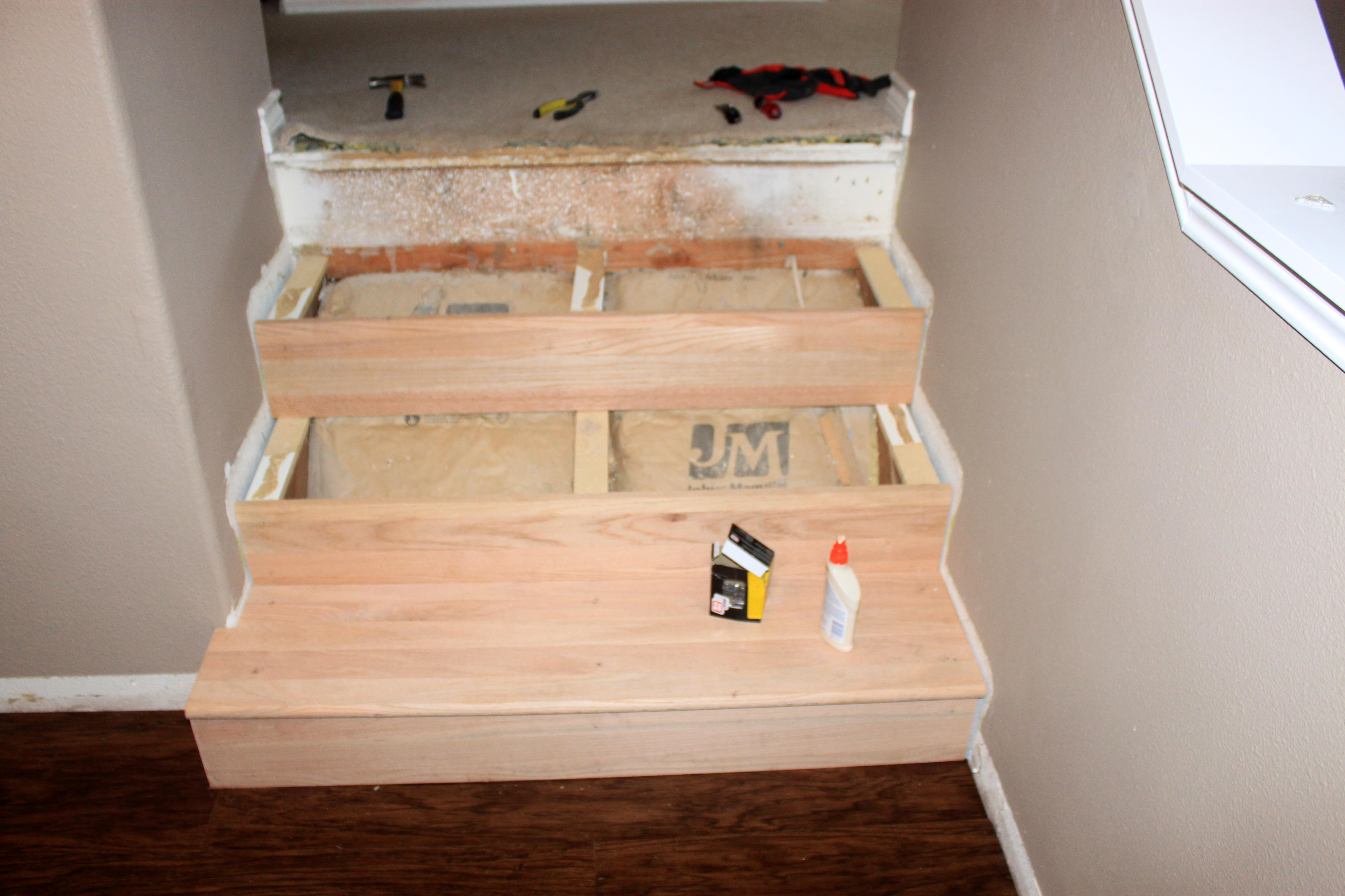 convert carpet to wood stairs