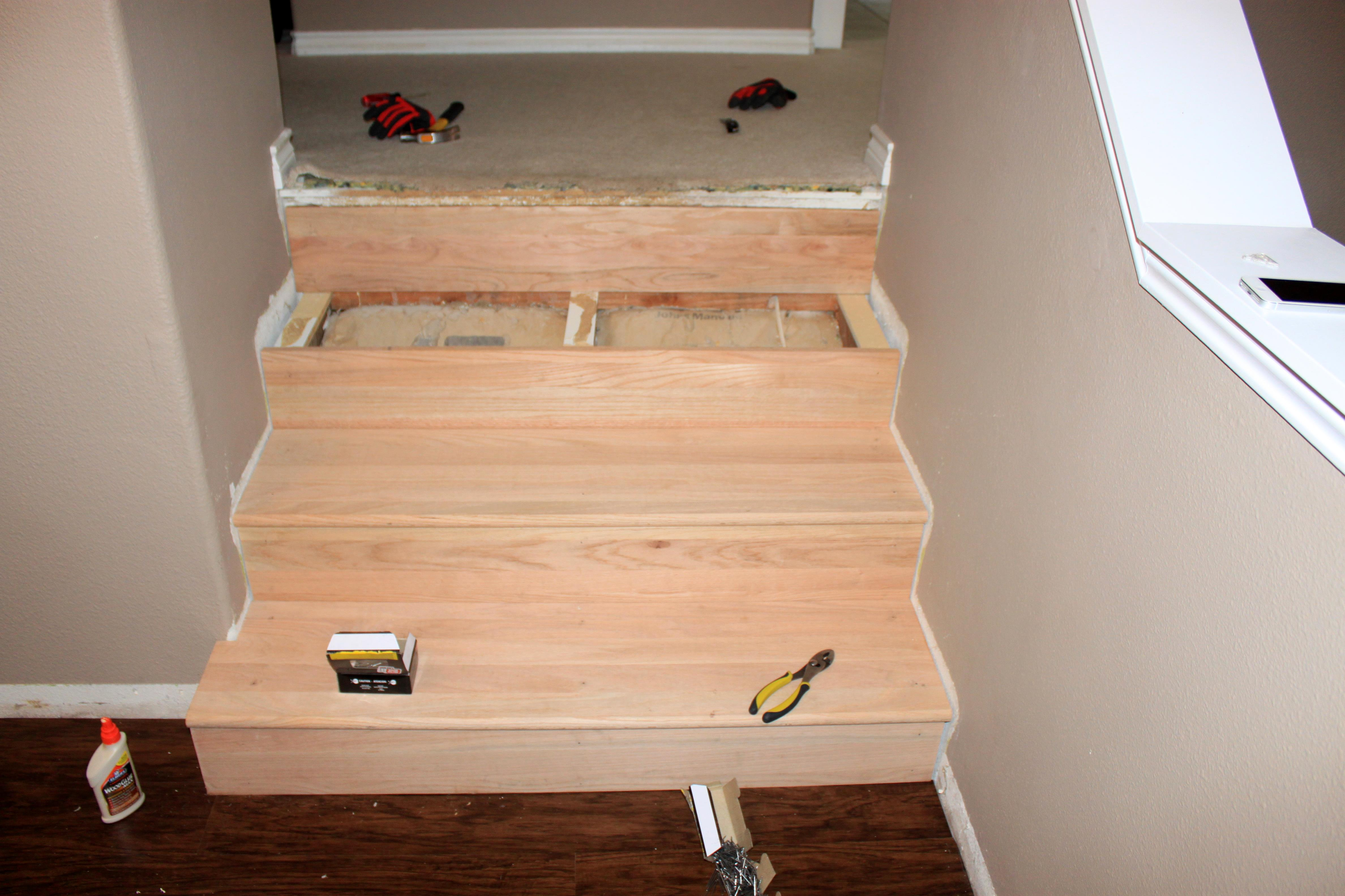 Converting Carpeted Stairs To Hardwood Just Like Playing
