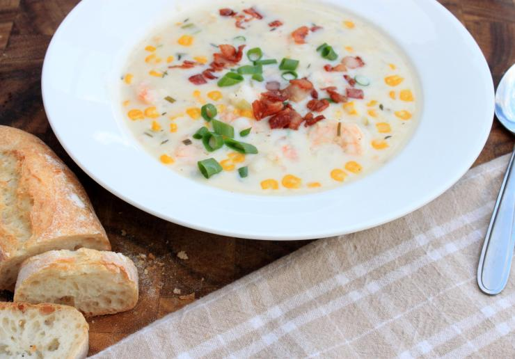 shrimp & corn chowder