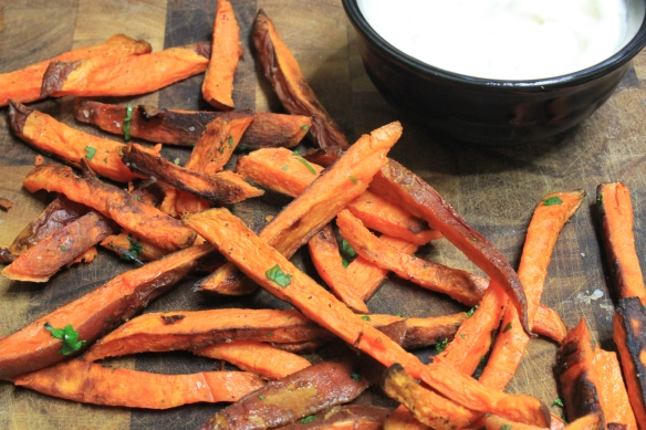 sweet potato fries with lime mayo