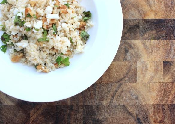 walnut, mint, feta brown rice