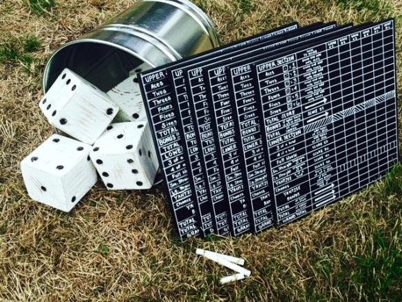 DIY yahtzee scoreboard