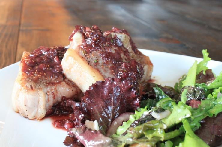 lamb chops w/ fresh fig sauce