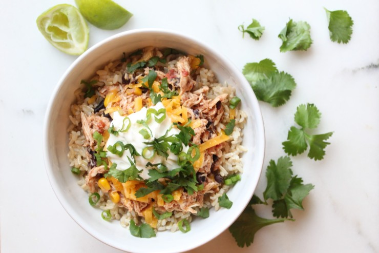 slow cooker chicken burrito bowl recipe